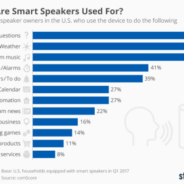 Інфографіка: What Are Smart Speakers Used For?