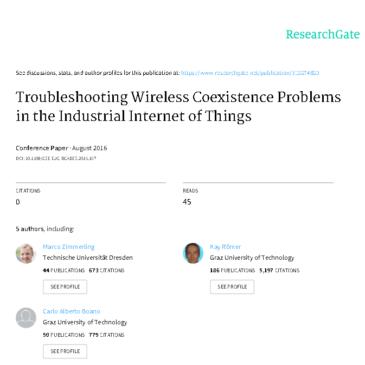 Дослідження: Troubleshooting Wireless Coexistence Problems in the Industrial Internet of Things